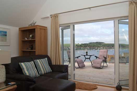 Living Room with Private Terrace - The Penthouse - Falmouth, Cornwall, UK (Sleeps 4) - Falmouth - rentals