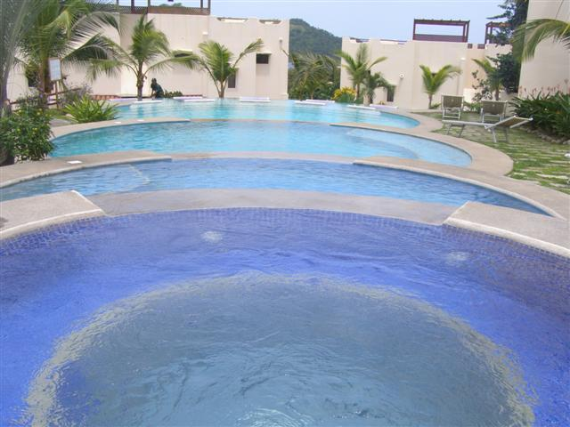 Muliple tiered swimming pool - Luxury Ocean View Condo near beach & downtown Coco - Playas del Coco - rentals