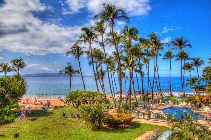 Beach and Pool view - Mana Kai #207 - Fabulous Beachfront Condo - Kihei - rentals