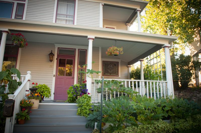 The house has secluded covered porches and gardens.  - 1899 Inn: Victorian Manor in Historic Deadwood - Deadwood - rentals