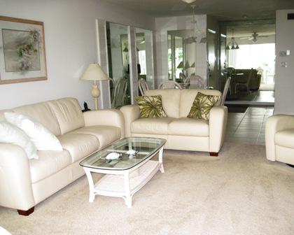 Living Room - Gulfside Small Garden Unit - Sarasota - rentals