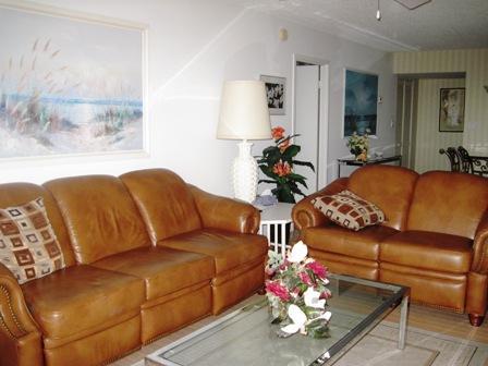 Living Room - Gulfside Mid-Rise Unit 702E - Sarasota - rentals