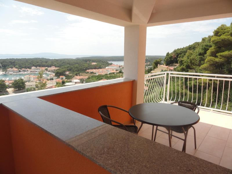 balcony with panoramic views of Old Town, surrounding islands and sea - SEA VIEW! studio sleeps 2 people - Rab - rentals
