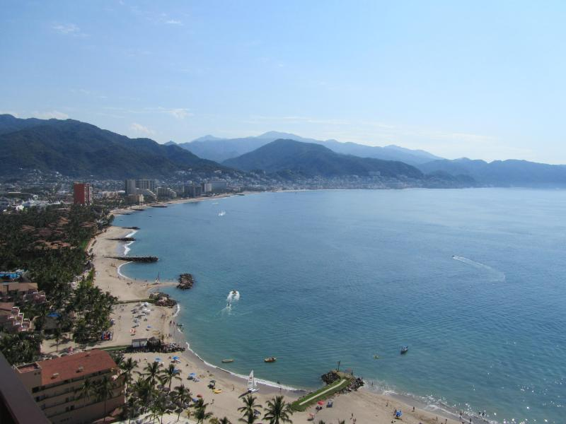 view from balcony on 23rd floor - PVR Grand Venetian Condo on the Beach/Tennis,pools - Puerto Vallarta - rentals