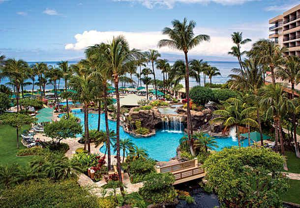 Marriott's million dollar pool with waterfalls, slide, pool bar, cave, beachfront, spas, kids area.. - NOT AVAILABLE AT THIS TIME: *Marriott's Maui Ocean Club - 1 BDRM/2 BATH VILLA* - Lahaina - rentals