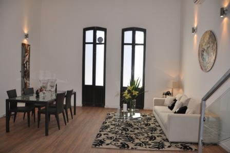 Livingroom Dining Room View - Luxury 2Bedroom Apart.102PrivateTerrace/Port Views - Montevideo - rentals