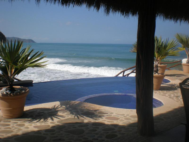 Stunning View to the Ocean from Infinity Pool and Terrace - Spectacular Beach Front House - Nayarit - rentals