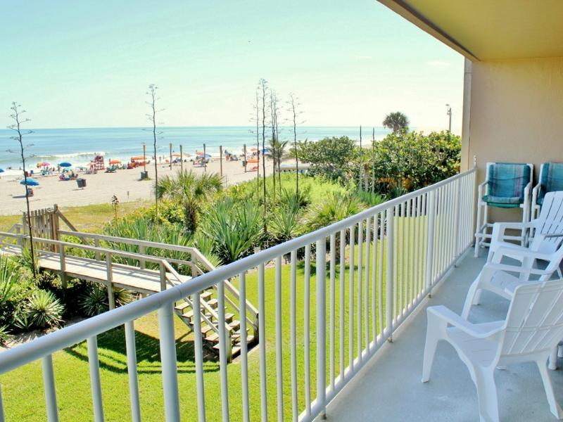 Balcony with panoramic ocean view - Gorgeous Direct Ocean Condo - Panoramic Ocean View - Cocoa Beach - rentals
