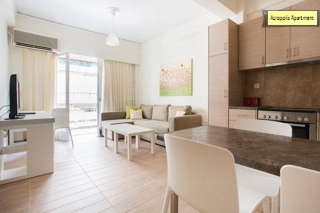 spacious living room-kitchen - Acropolis Apartment brand new - Athens - rentals