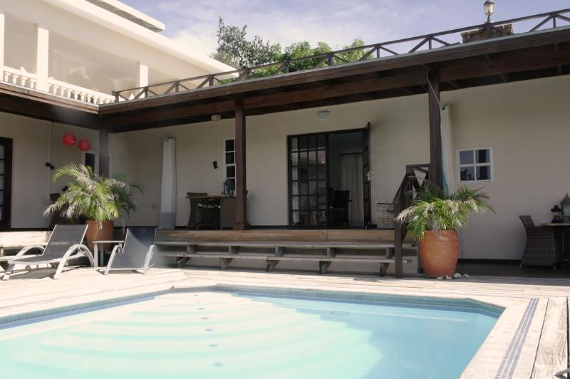 View from our pool at apartment 3 - Curavilla | Luxurious double apartment with pool, #3 - Willemstad - rentals