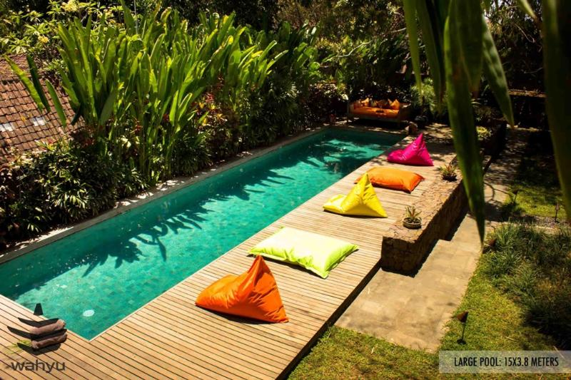 Pool Overview - Wahyu luxury 4 Bedroom Villa, 2 pools,car+driver,feature master suites, Seminyak - Seminyak - rentals