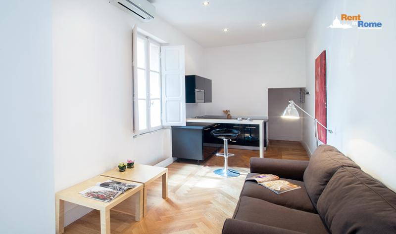 Livingroom Kitchen - Babuino Suite - Rome - rentals