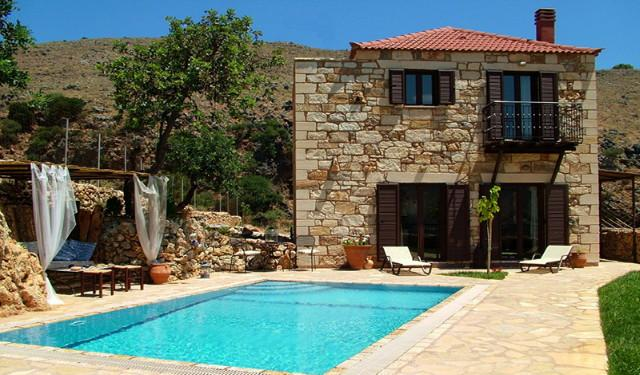 Villa entrance - Experience villas Katerina private with sea  views - Chania - rentals