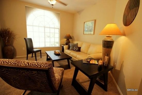 Living room with views - Near Catalina State Park! Quiet and Spacious One Bedroom Condo at Boulder Canyon in Oro Valley - Oro Valley - rentals