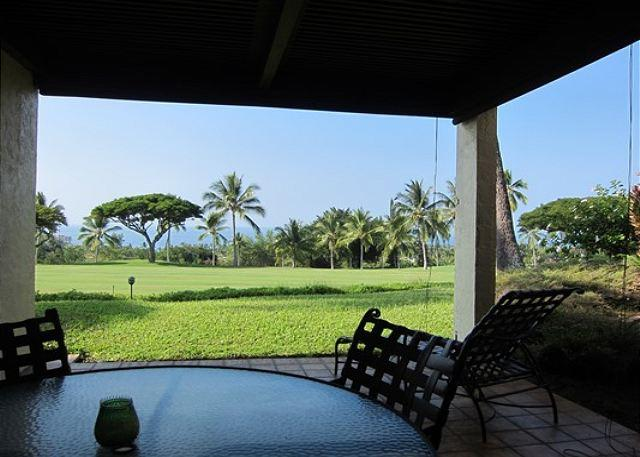 Lanai with Golf Course and Ocean Views - Fantastic Ocean Views from 2 Bedroom at Country Club Villas 116 - Kailua-Kona - rentals