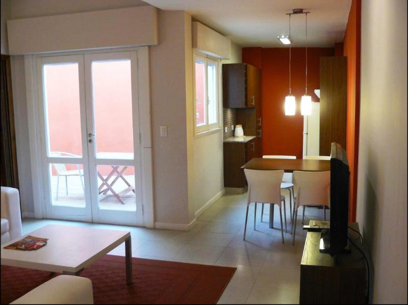 View from entrance door, living, patio and kitchen - Palermo Luxury Tango Apartment - Buenos Aires - rentals