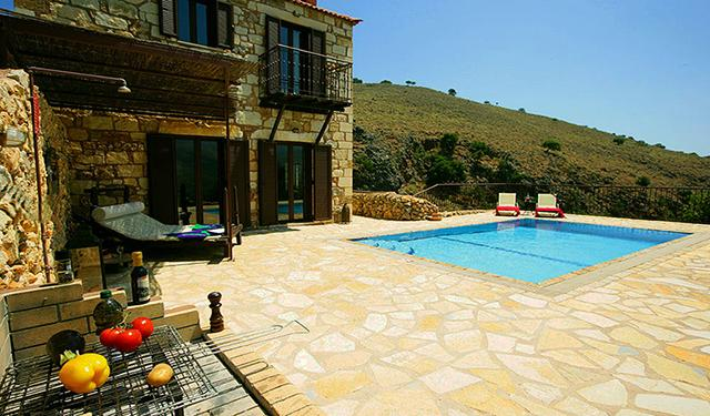 Villa entrance - Experience villas Chrysa private with sea views - Chania - rentals