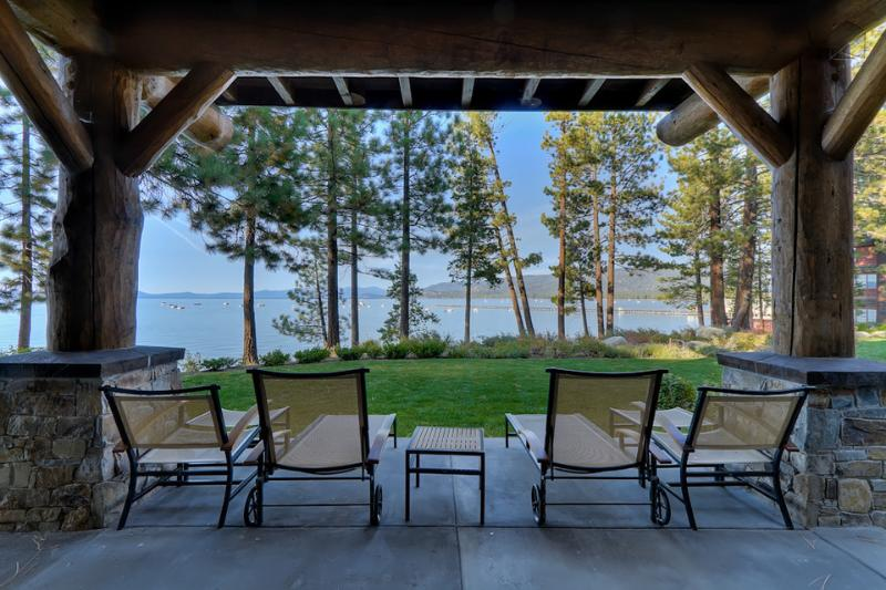 The amazing lakefront location offers unparalleled views from your private patio. - Only one word adequately describes it: Awespectaculous - Sierra Shores 3BR Townhome - South Lake Tahoe - rentals