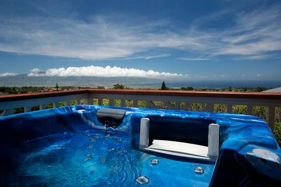 Hot tub view - 4BR Upcountry Home, Hot Tub, Incredible Views! - Makawao - rentals