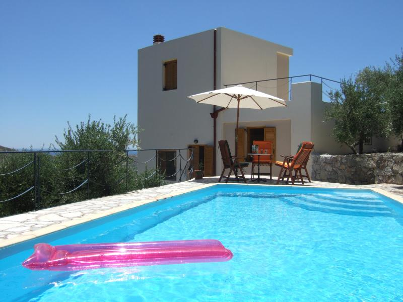 the private swimming pool with the house - in7thheaven: Luxurious holiday villa with private swimming pool south coast of Crete, Mirtos - Mirtos - rentals