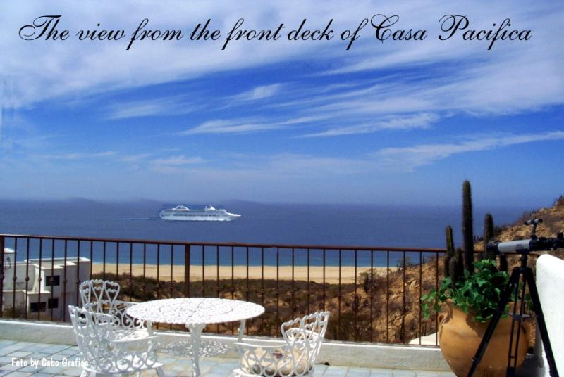 View from front Deck - Panoramic ocean view, peaceful quiet & safe - Cabo San Lucas - rentals