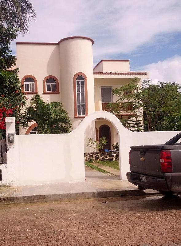 Front from street - Costa Maya - Mahahual - House - Pool - Majahual - rentals