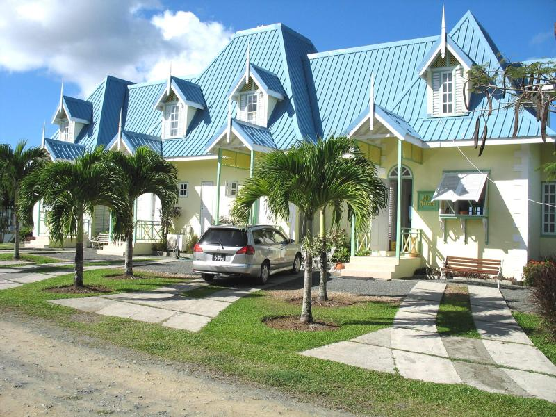 Entrance to Villa Nirvana with two driveways to park up to 4 cars. - Tobago three bedroom Villa with panoramic seaview - Prospect - rentals
