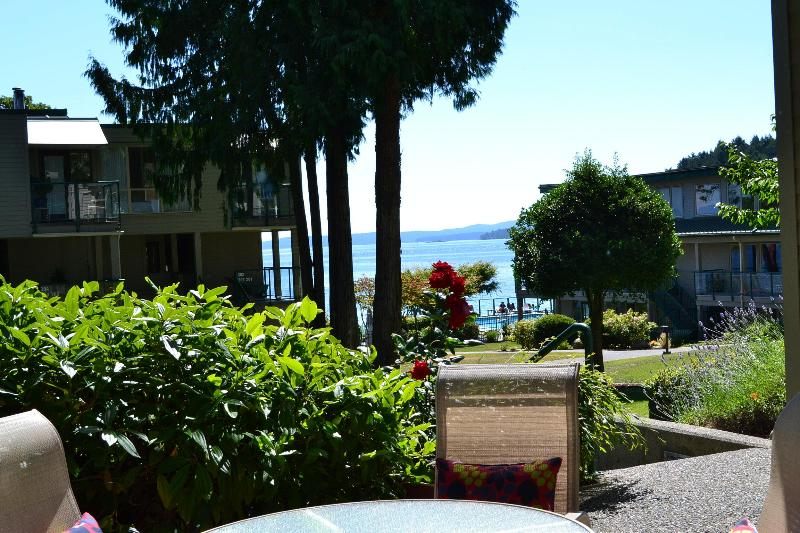 View from the main deck, outdoor table & bbq - Together By the Sea at Inn of the Sea.. - Nanaimo - rentals