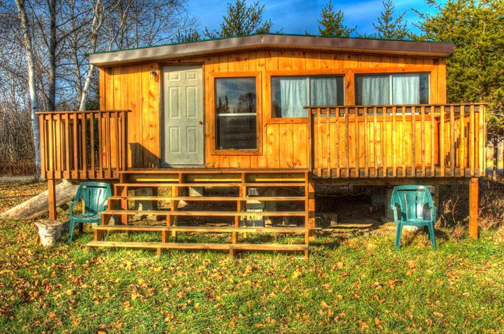 Cabin Front - Northern Ontario - Rustic Cabin - Field - rentals