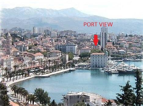 The apartment is close to the famous beach Bacvice (8 minutes by walk) and just a 5sition in Split - view from apartment  PORT VIEW - Split - rentals