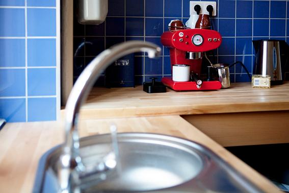 Kitchen with Italian Coffee Machine - NEW Budapest Boutique Apartment 130 sqm - Budapest - rentals