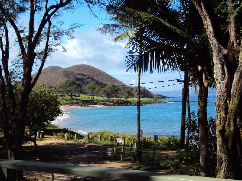 View from our deck of Maluaka Beach & Cinder Cone - Amazing OCEAN & CINDER CONE view Makena HOUSE Maui - Wailea - rentals