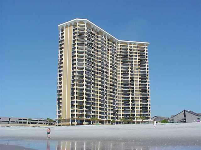 The striking Maison Sur Mer building - Maisons Sur Mer 302, ocean views/pool/tennis/WiFi! - Myrtle Beach - rentals