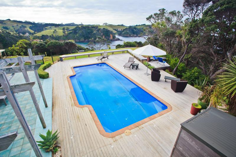 Pool view from your deck - Lighthouse Lookout B & B - Tutukaka - rentals