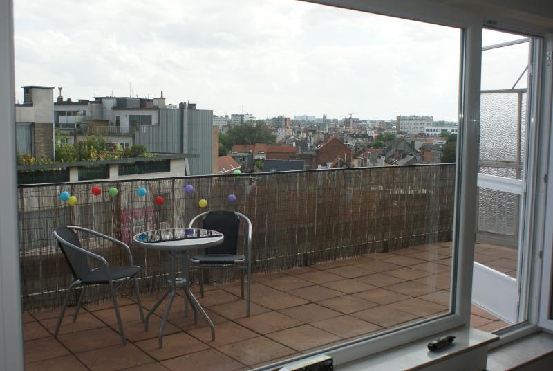 Terrace and view - Sunny rooftop apartment in center of Antwerp - Antwerpen - rentals