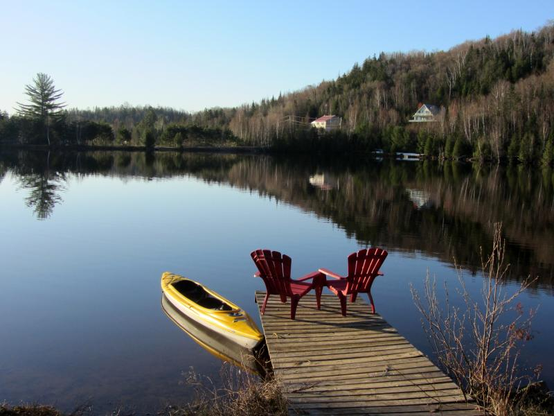 Mountain lake is private and calm. - Swan Lake Hideaway-Lake House;1hr from Montreal,QC - Chertsey - rentals