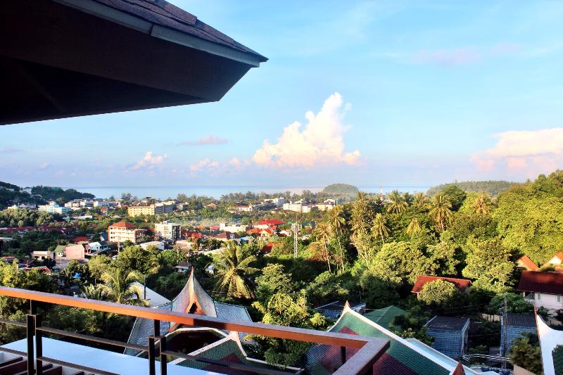 Morning sea view from roof top terrace! - Kata Sea View Villas with Private Pool & Chef - B2 - Sao Hai - rentals