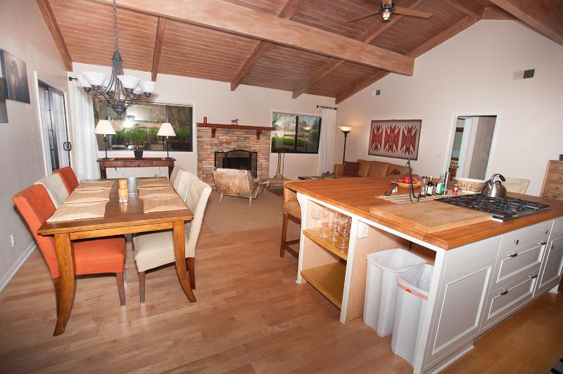Main room & fireplace #1 - Country Comfort Cottage - Santa Ynez - rentals