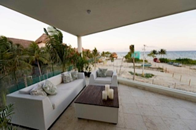 Terrace View - The Elements Ocean Front - Playa del Carmen - rentals