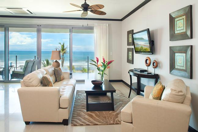 Living Area and View - Luxury Beach  Front  S702 - Jaco - rentals