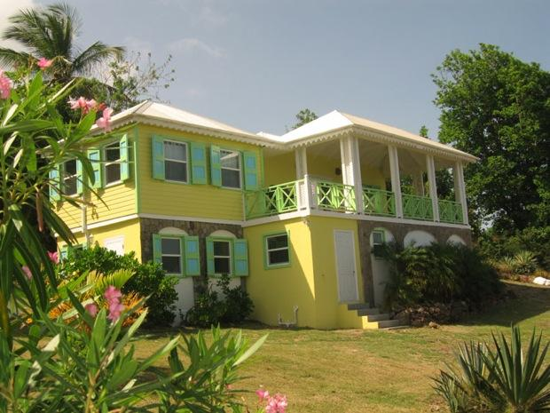 Main house, as viewed from the driveway - Charming 3 bed / 4 bath - from US$1,200 per week! - Nevis - rentals