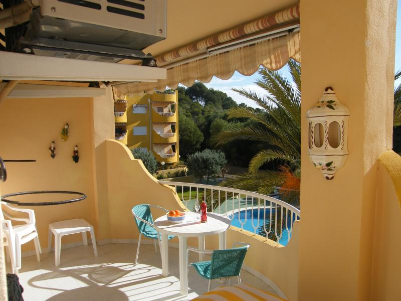 Balcony looking over pool grounds and sea - Front line apartment in small village Costa Blanca - Costa Blanca - rentals