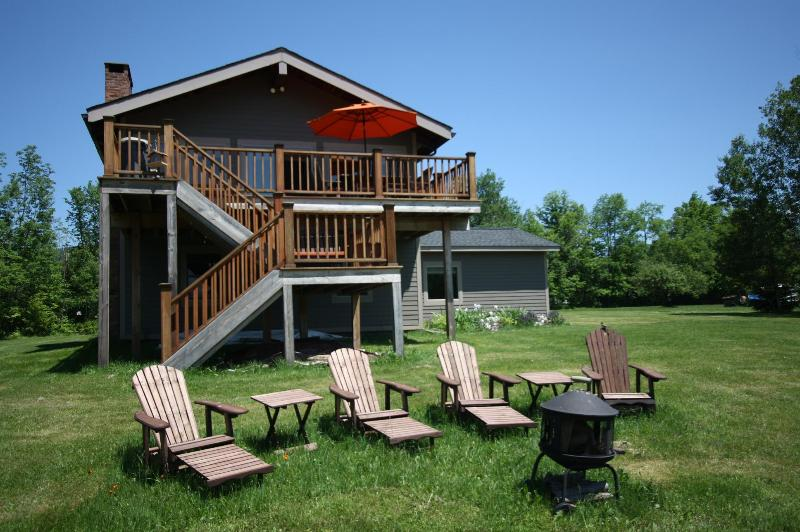 Fire Pit with Big Daddy Adirondack Reclining Chairs - 4 Season Nirvana, Hot Tub, Windham Mountain Views, - Windham - rentals