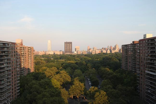 The view from the living room. - LUXURY 2 BED/2.5 BA - Gorgeous Central Park View! - New York City - rentals