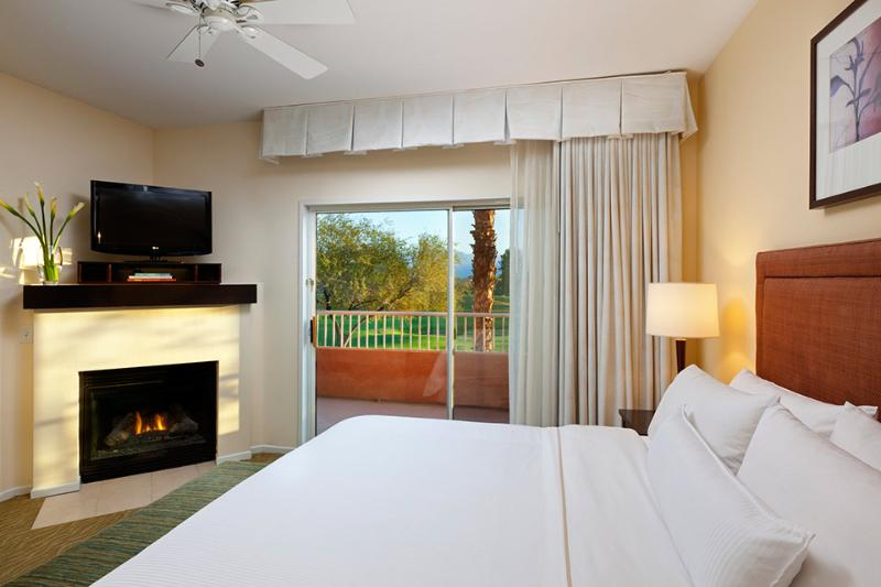 Master Bedroom with fireplace - Westin Mission Hills Resort: 2 Bedroom Villa - Rancho Mirage - rentals
