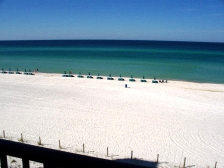 Beach from Living Room - Luxury Beach Front at Seachase Condos(W303) 2B/2B - Panama City Beach - rentals