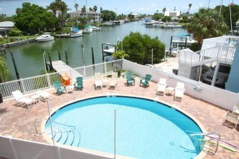 A view of the water and pool from your private balcony - 206 - Skyline - Madeira Beach - rentals