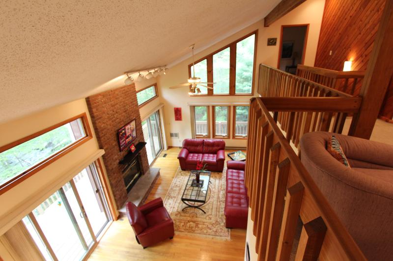 Inside view of living room from loft - Casapoconos - Bushkill - rentals