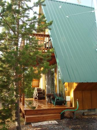 Chalet covered porch - Chalet in Crescent Lake - Crescent Lake - rentals