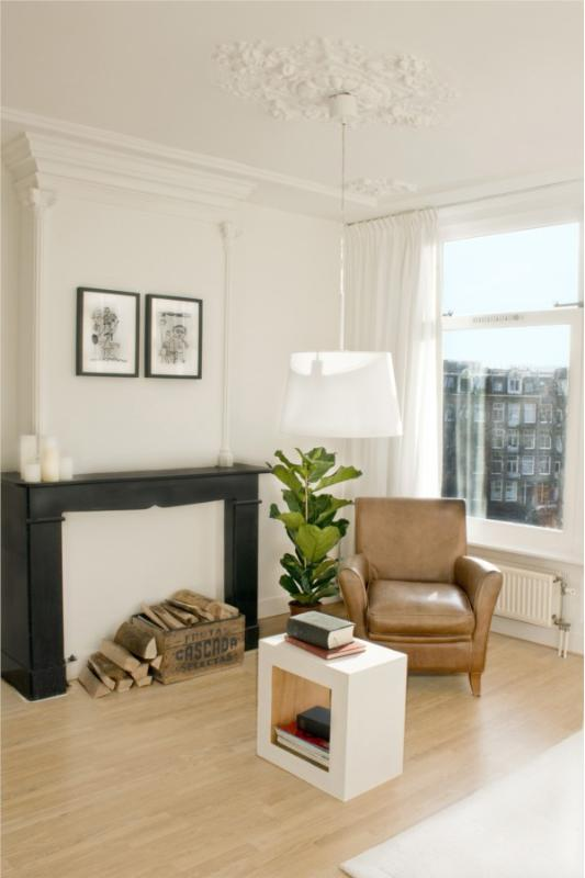 living room - Amsterdam Penthouse City Center on canal: 3 bedroo - Amsterdam - rentals